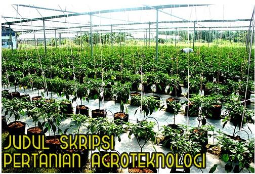 Judul Skripsi Pertanian Agroteknologi Terbaru Update Makalah Pedia