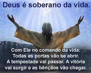 Com Deus no comando da vida