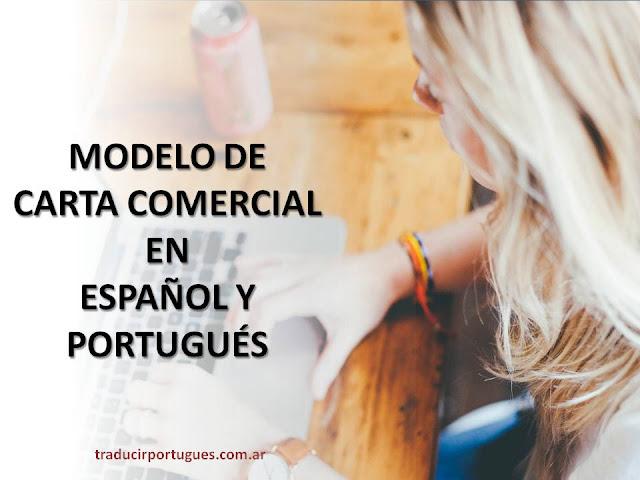 carta, comercial, español, portugués, modelo carta