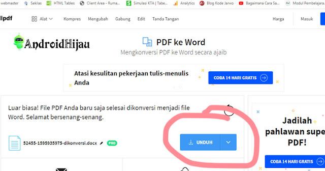 cara mudah ubah file pdf ke word secara online