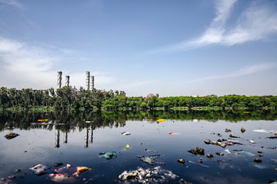 Water pollution was caused by factory