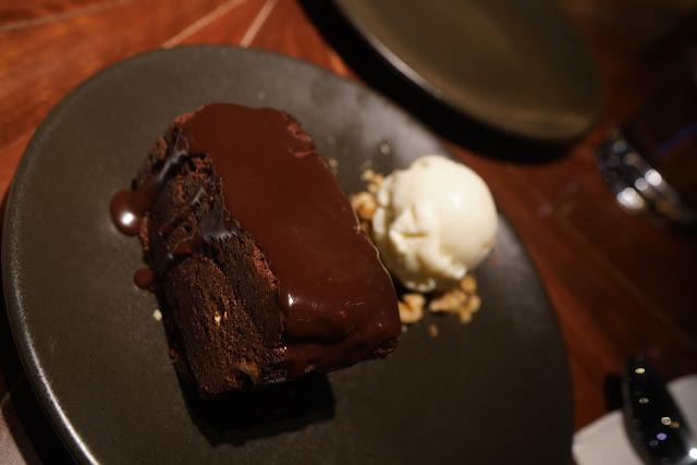 Hunter and Barrel Sydney Steak Restaurant chocolate brownie