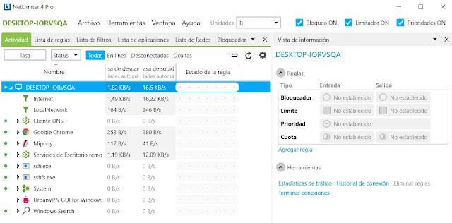 NetLimiter Enterprise Version Full (Controla y Monitoriza el Internet)