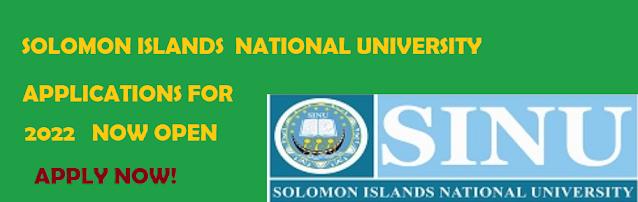 Solomon Islands National University SINU Calls for Applications for 2022 Enrollments