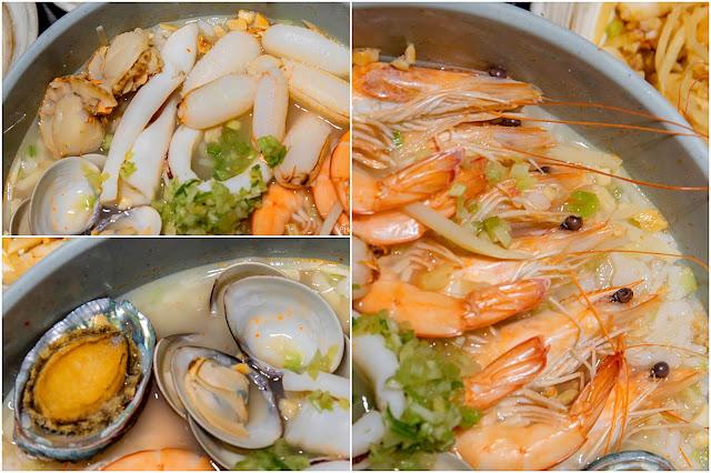 collage%25EF%25BC%2594 - 熱血採訪│拼鮮海產泡飯,來吃海鮮吃到怕!點一碗泡飯就能吃2餐,份量遠遠超過佛跳牆的等級啦!