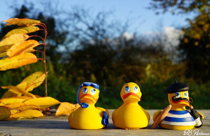 PomPom Trio of Rubber Ducks
