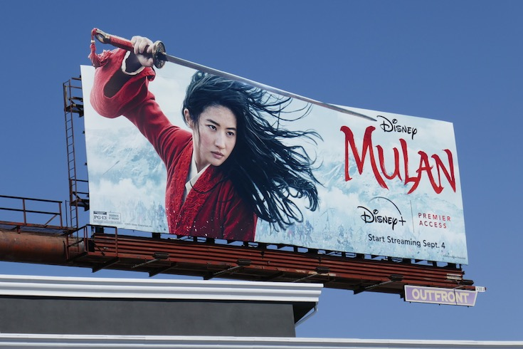Mulan Disney+ Premier Access extension cut-out billboard