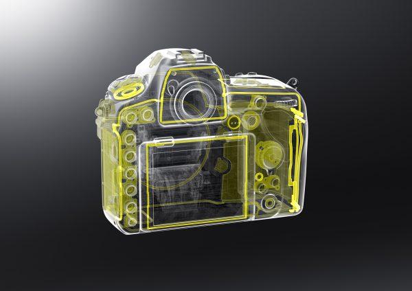 Схема расположения уплотнителей в корпусе Nikon D850