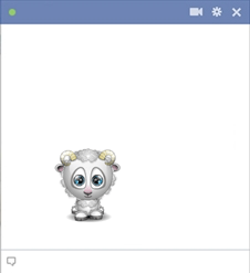 Facebook Sheep Emoticon