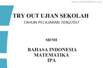 Soal Try Out Ujian Sekolah UN SD/MI Tahun 2017