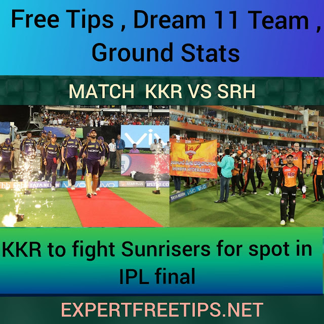 SRH vs KKR Dream11 Predictions & Betting Tips, IPL 2018 Today Match Predictions