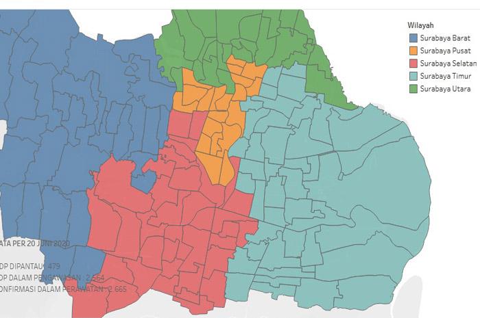 Ini Sebabnya, Satu Persatu Wilayah Surabaya Berubah