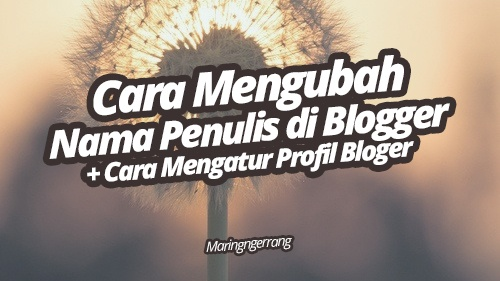 Mengubah Nama Penulis di Postingan Blogger