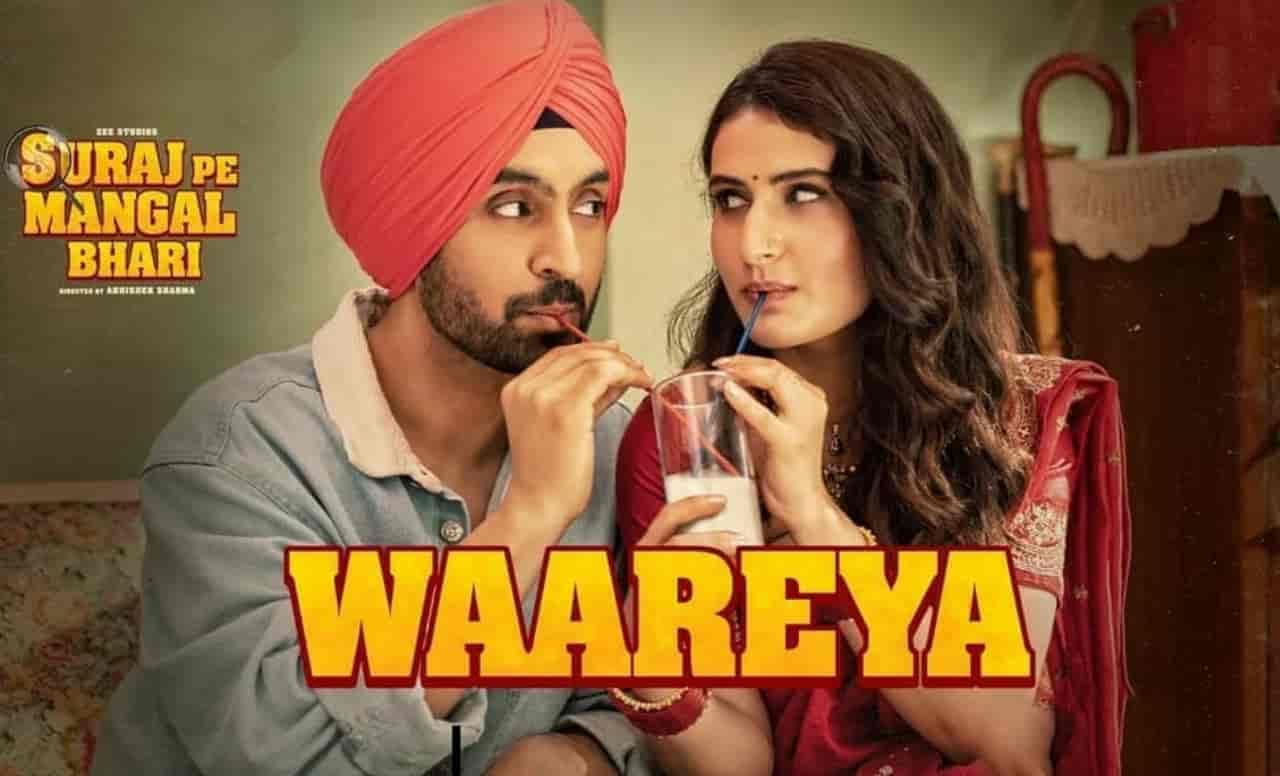 The makers of Diljit Dosanjh and Fatima Sana Shaikh starrer movie Suraj Pe Mangal Bhari have ready to release it's another beautiful track Waareya.