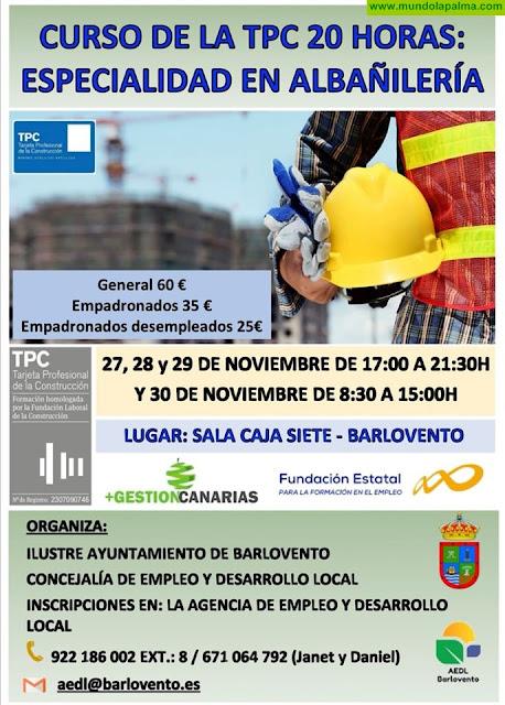 Curso de la TPC 20h: Especialidad en Albañilería - Barlovento