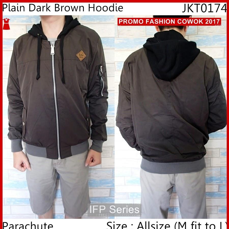 BIMFGP056 Brown Jaket Fashion Distro Pria PROMO