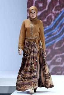 Model-Baju-Gamis-Batik-Kombinasi-Blazer