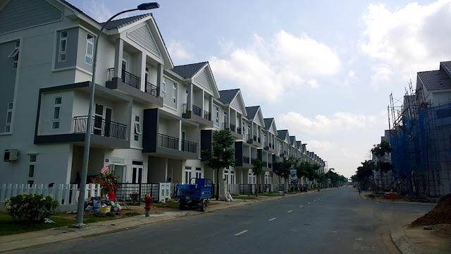 Tiến độ xây dựng khu Biệt thự - Nhà phố Park River Side quận 9 HCM