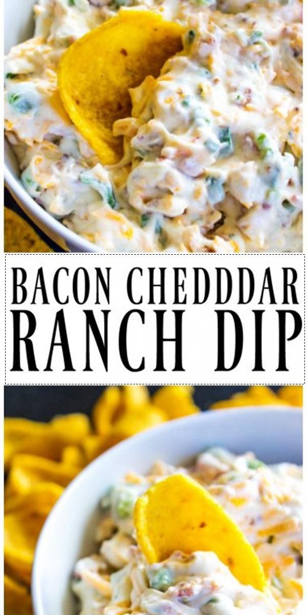 Bacon Cheddar Ranch Dip #appetizerrecipes