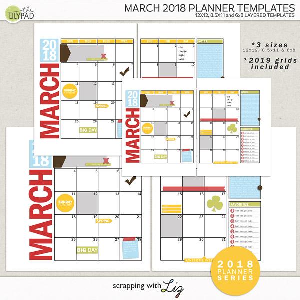 Digital Scrapbook Planner Templates