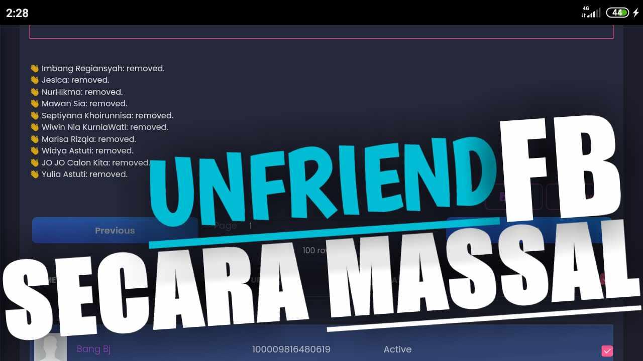 Cara Menghapus Teman Fb Secara Massal
