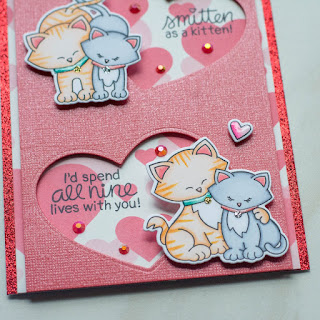 Newton's Sweetheart Slimline Cards by June Guest Designer Amy Tollner | Newton's Sweetheart Stamp Set and Darling Hearts Die Set by Newton's Nook Designs #newtonsnook #handmade