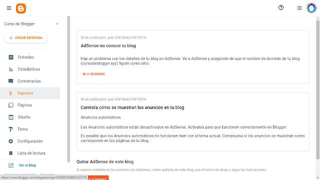 Ingresos en Blogger