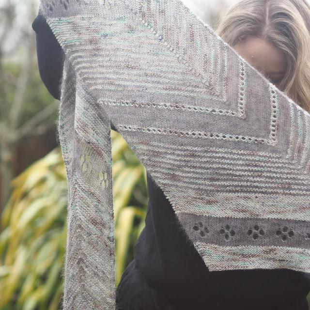 Detail of barque shawl