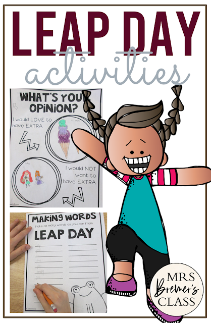Leap Day activity pack with activities to celebrate Leap Day in the classroom