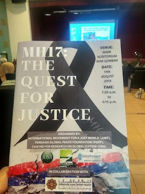 MH17: The Quest For Justice Seminar    A Case Of Justice