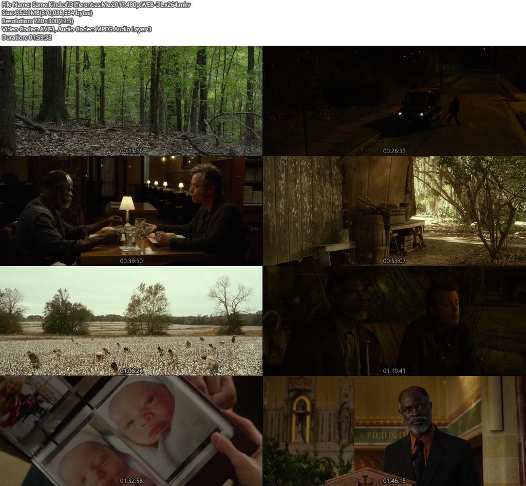 Same Kind of Different as Me 2017 480p WEB-DL 350MB x264 Screenshot