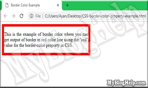 CSS-border-color-property-example