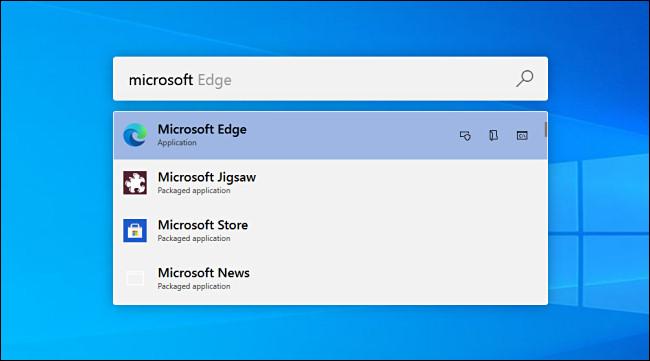 مثال على تشغيل PowerToys على نظام التشغيل Windows 10