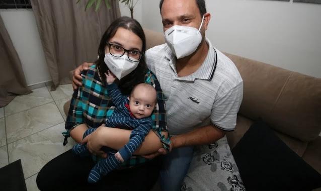 'Agradeça a Deus o milagre', diz médico ao marido de gestante que superou Covid gravíssima
