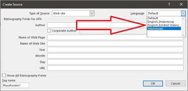 langkah menambahkan daftar pustaka