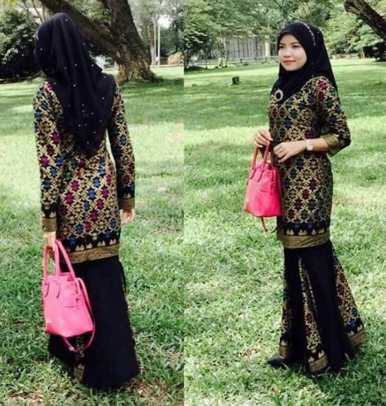 Referensi model baju muslim songket mulai dari style couple hingga