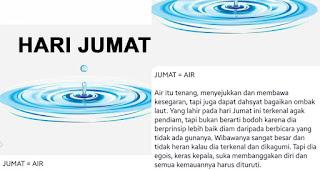 Kepribadian cowok yang lahir pada hari Jumat = Air