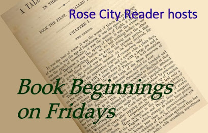 logo button for Book Beginnings on Fridays blog event on Rose City Reader