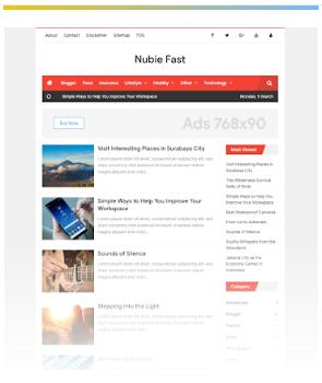 Nubie Fast template blogger