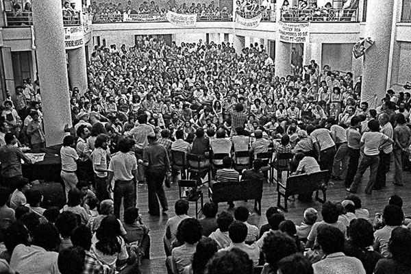 Fundação do PT, em 1980 – Foto: Juca Martins