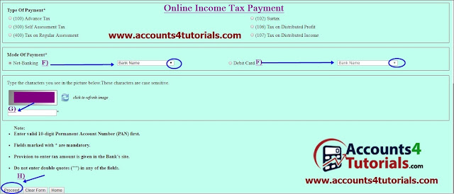 pay income tax on https://onlineservices.tin.nsdl.com/ website