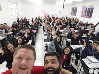 Turma do curso Preparatório para o Enem – Joinville 2018