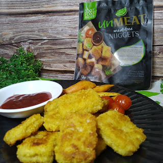 unMEAT Nuggets and Kamote Fries