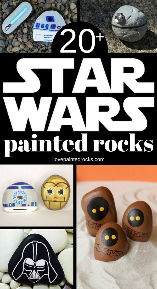 Star Wars inspired rock painting ideas