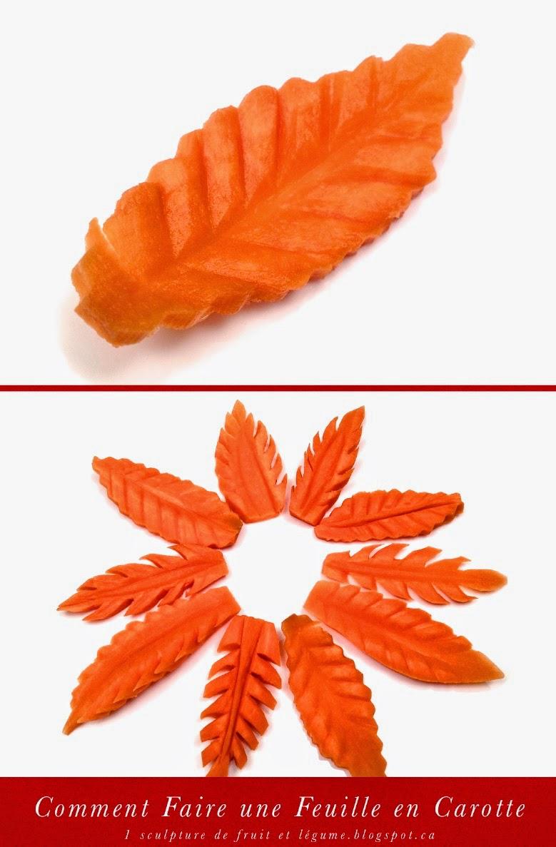 1 sculpture de fruit et l gume comment faire une feuille en carotte how to make a leaf with a. Black Bedroom Furniture Sets. Home Design Ideas