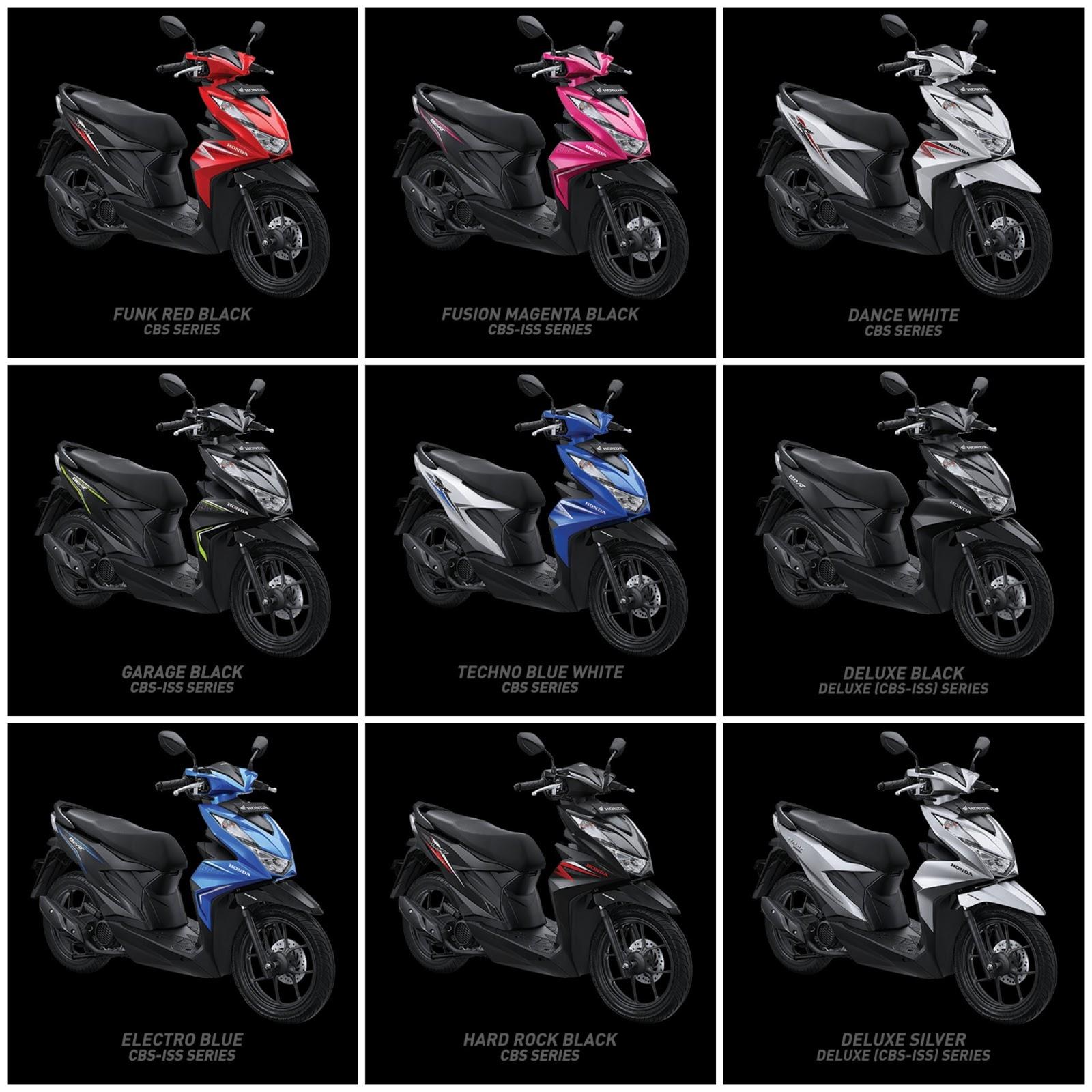 Honda Beat 2021 Tampil Dengan Desain Lebih Menarik Kamu Pilih Warna Apa Rudimotor88