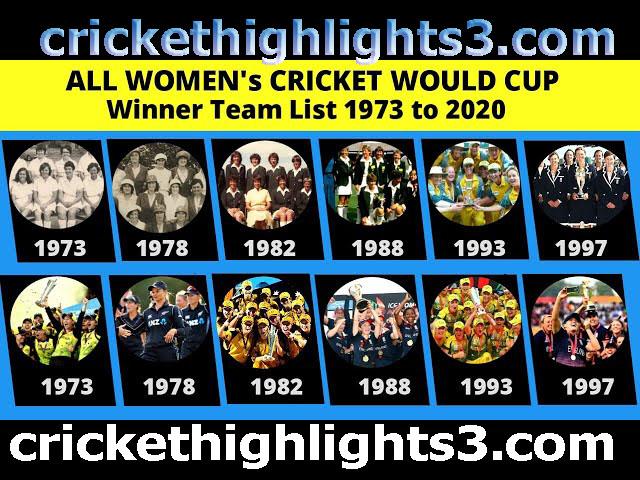ICC Women World Cup Winner