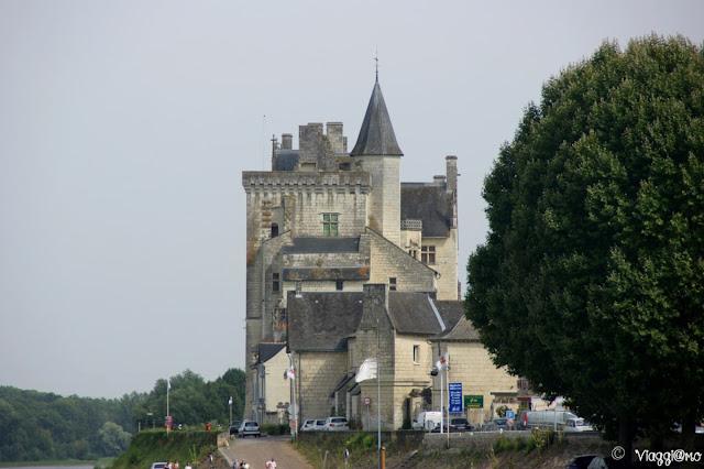 Il bel profilo del castello di Montsoreau sulla Loira