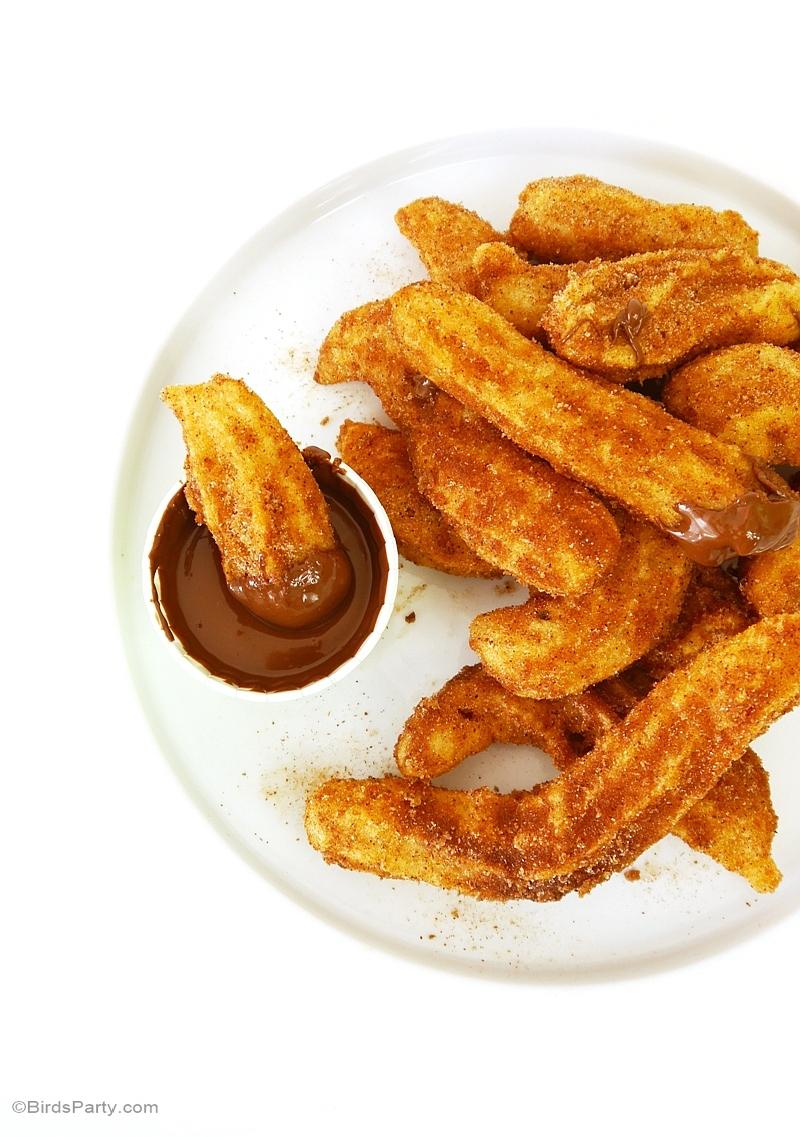 Recette: Churros Maison à la Canelle et sauce Nutella - BirdsParty.fr