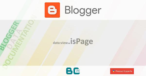 Blogger - data:view.isPage